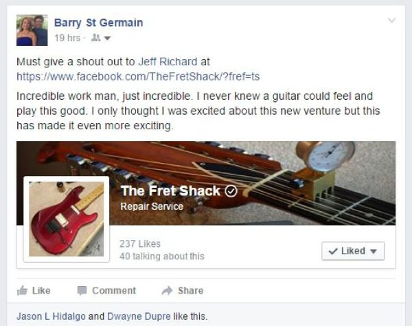The Fret Shack review overall service