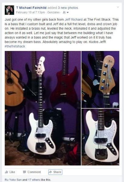 The Fret Shack Review Custom Jazz Bass