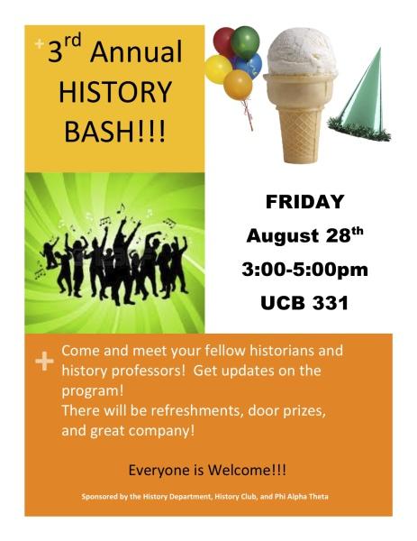 3rd Annual History Bash