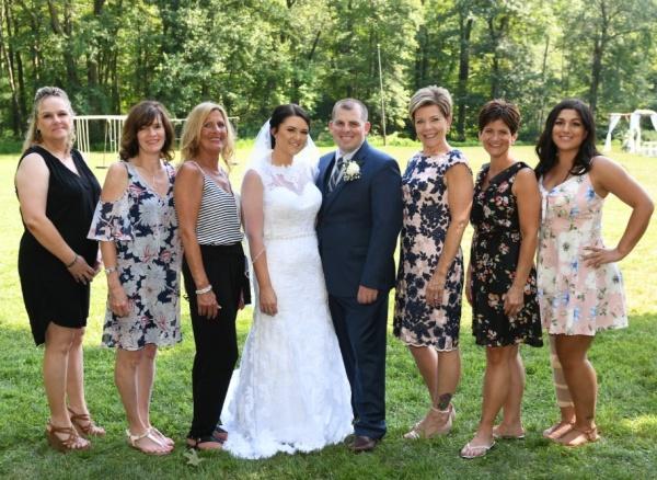 Salon Crew at Brian & Karlie's Wedding