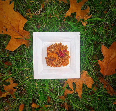 Apple Pear Cranberry Oatmeal Crisp Gluten Free Vegan Recipe Motion Melissa