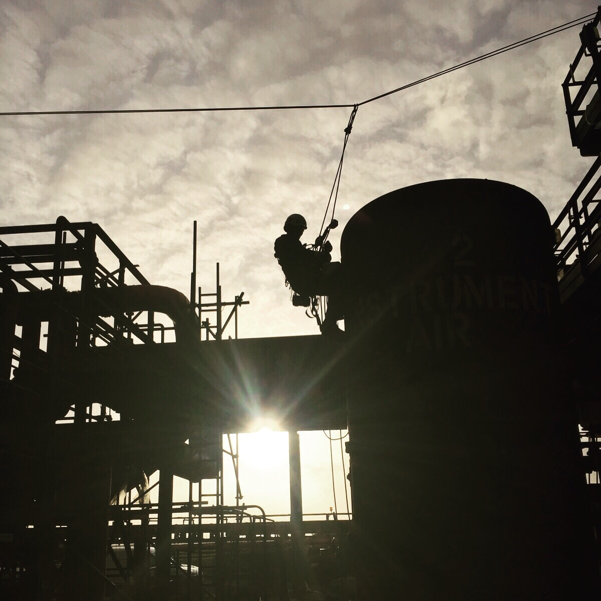 <Aspect3Sixty Industrial rope access and NDT Vessel inspection>