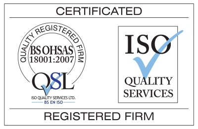 < Aspect3Sixty ISO BS OHSAS 18001 Accredited with QSL for Provision of Industrial Rope Access and Non Destructive Testing Services>