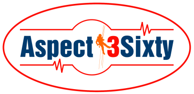 <Aspect3Sixty Logo Rope Access and Non Destructive Testing Services Taunton, Somerset South West England>