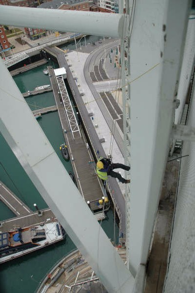 <Aspect3Sixty IRATA Industrial Rope Access Spinnaker Tower Paint Inspection>