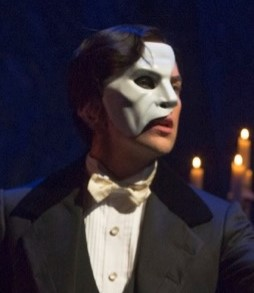 The Phantom (Chris Mann), with his new mask and hairdo. Photo credit: Matthew Murphy