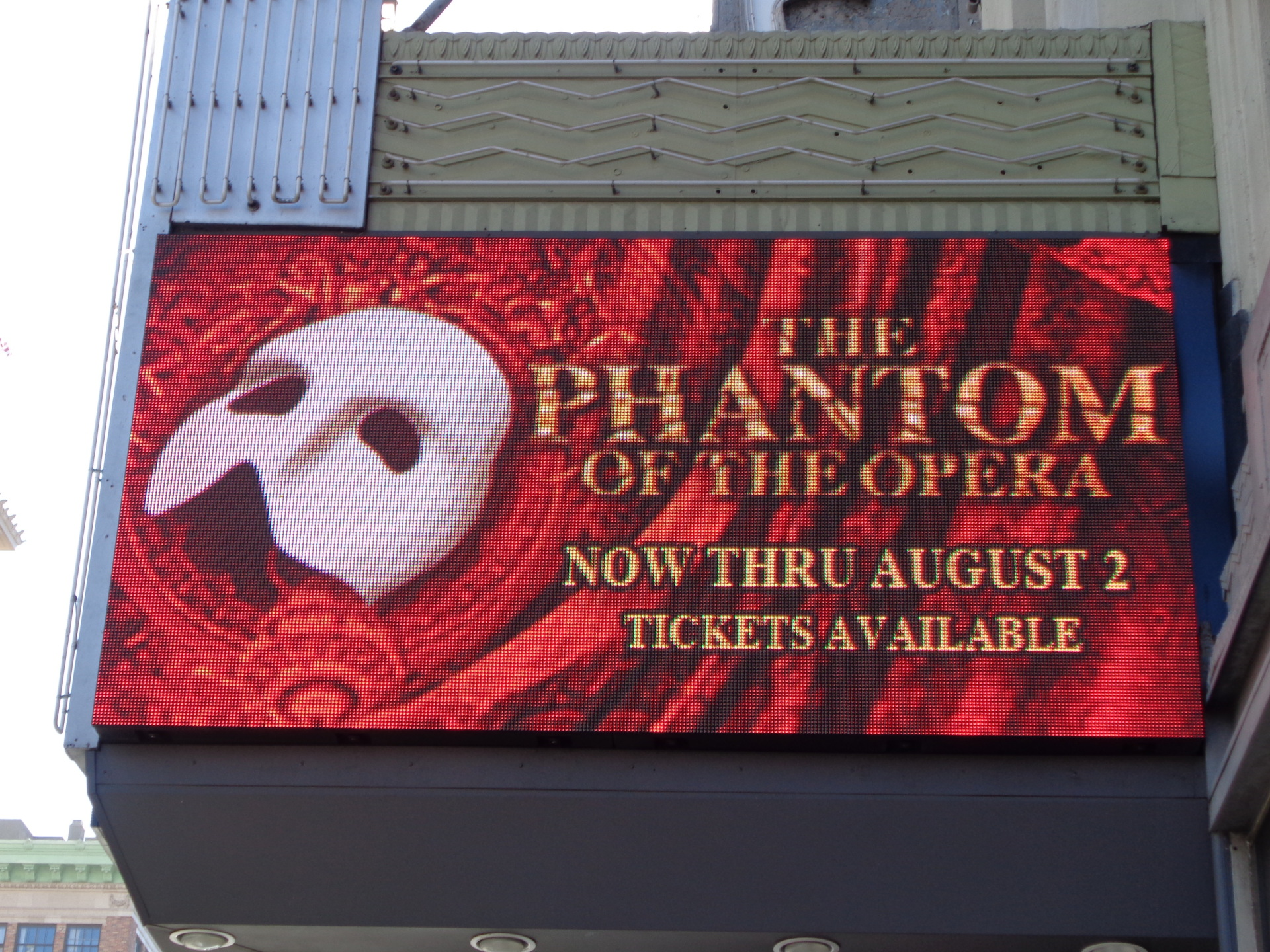 New Logo on the Marquee, Pantages Theater, Los Angeles, CA