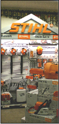 Stihl Products displayed in Aberdeen Outdoor Showroom