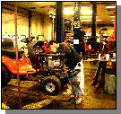 tractor being serviced