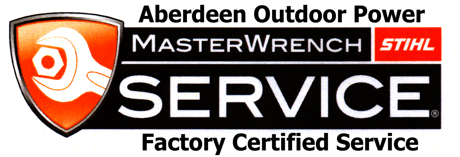 Aberdeen Outdoor Power MasterWrench Stihl factor certified service logo
