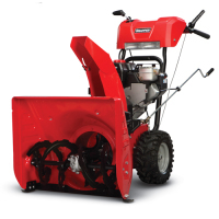 Duel stage snow blower