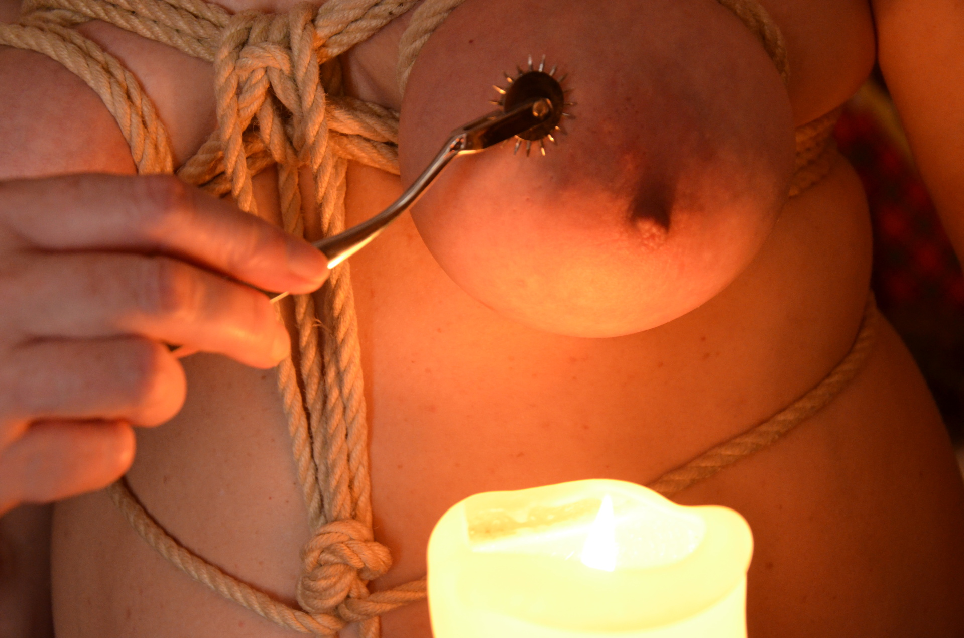 sensual rope and breast play