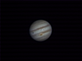 planeta jupiter con webcam