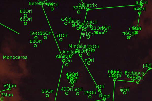 La constelación de Orión resuelta mediante Astrometry