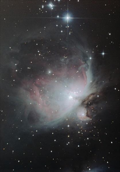Nebulosa de Orión M42 fotografiada con SW150/750 y Canon EOS 400D
