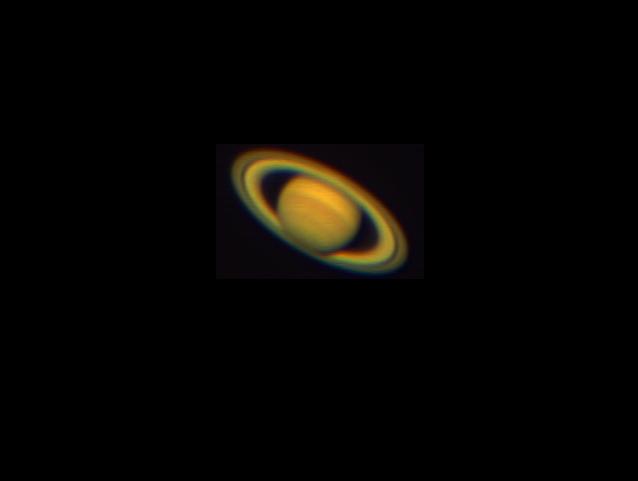 Saturno fotografiado con un Skywatcher 150/750