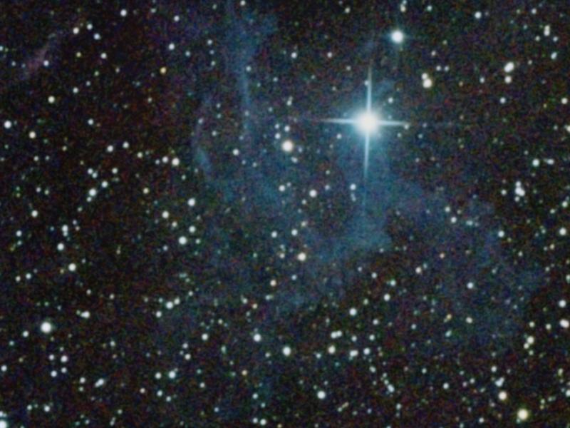 Ruido en la imagen de la nebulosa IC405/Caldewell 31 en Auriga
