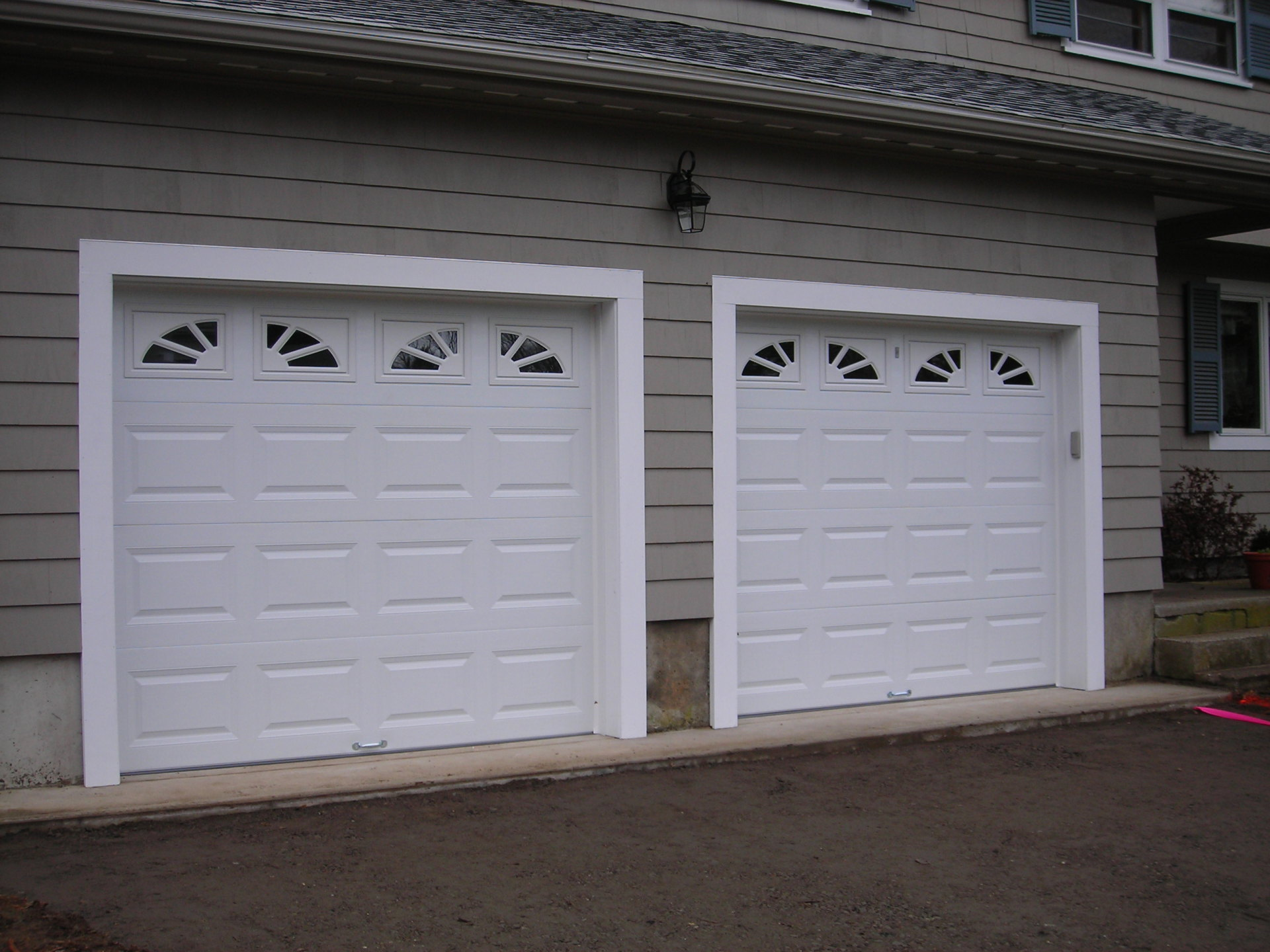 8' x 7' Standard Doors with Custom Windows