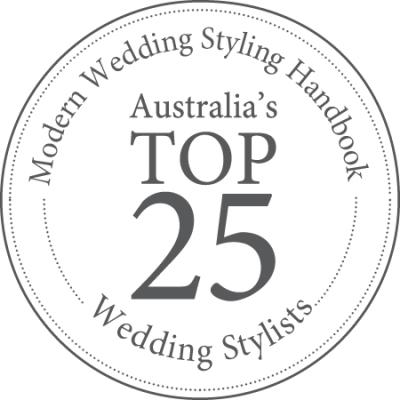 Margaret River Wedding Stylist in top 25 best stylists in Australia