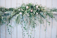 wedding wall flowers