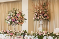 tall wedding table centrepiece