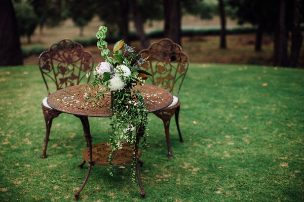 wedding signing table
