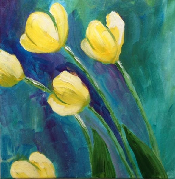 """Tulips (12""""x12"""")"""