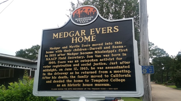 Historic Marker in front of Medgar Evers Home