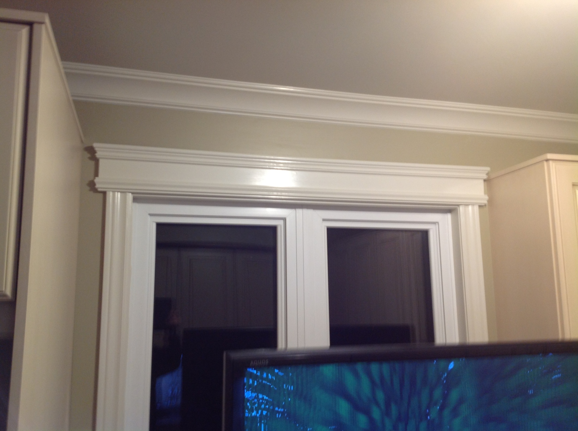 Custom mantel over window