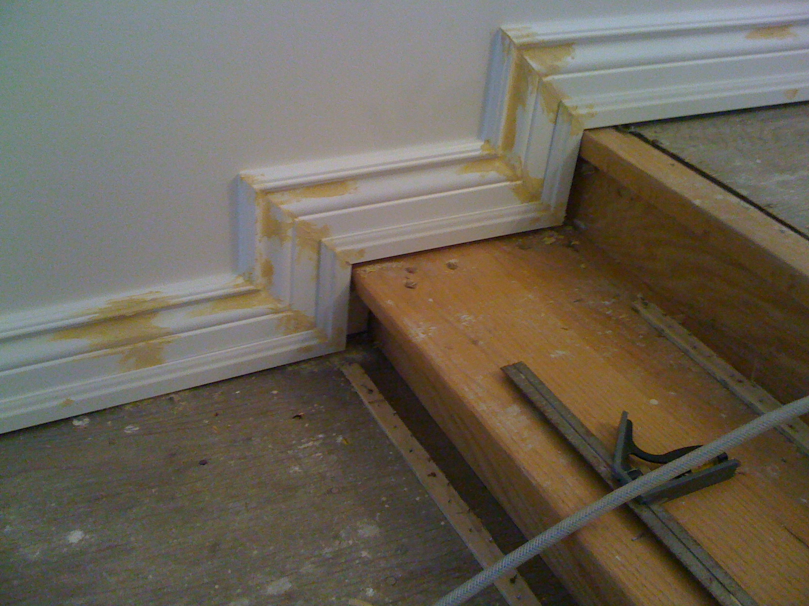 Baseboard ready for paint