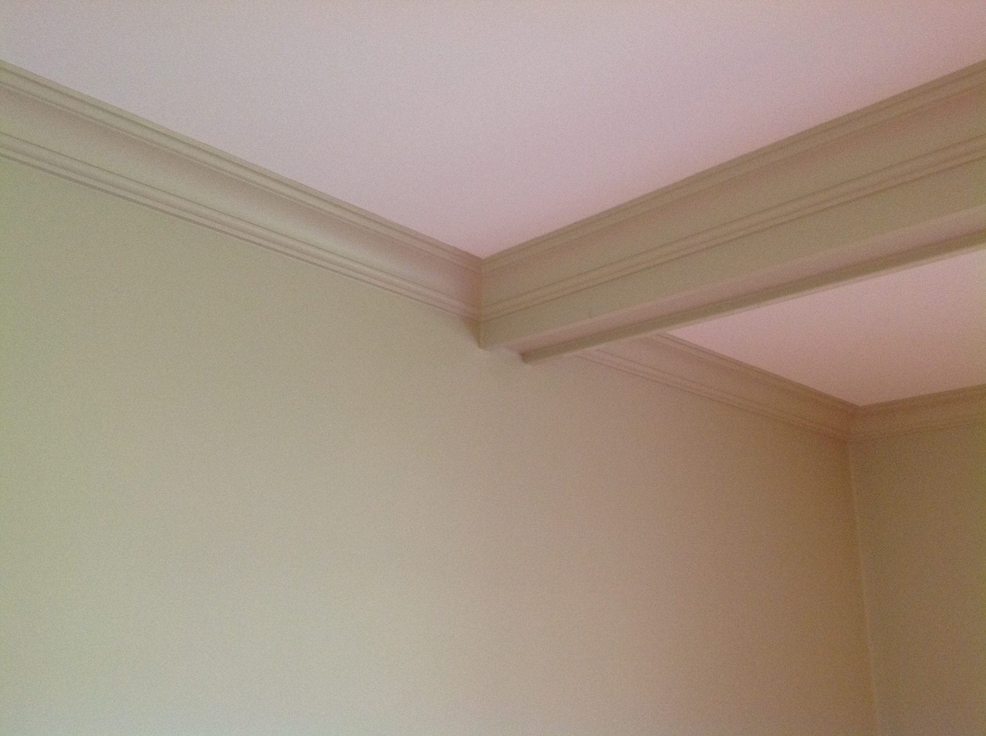 Crown molding coffer ceiling