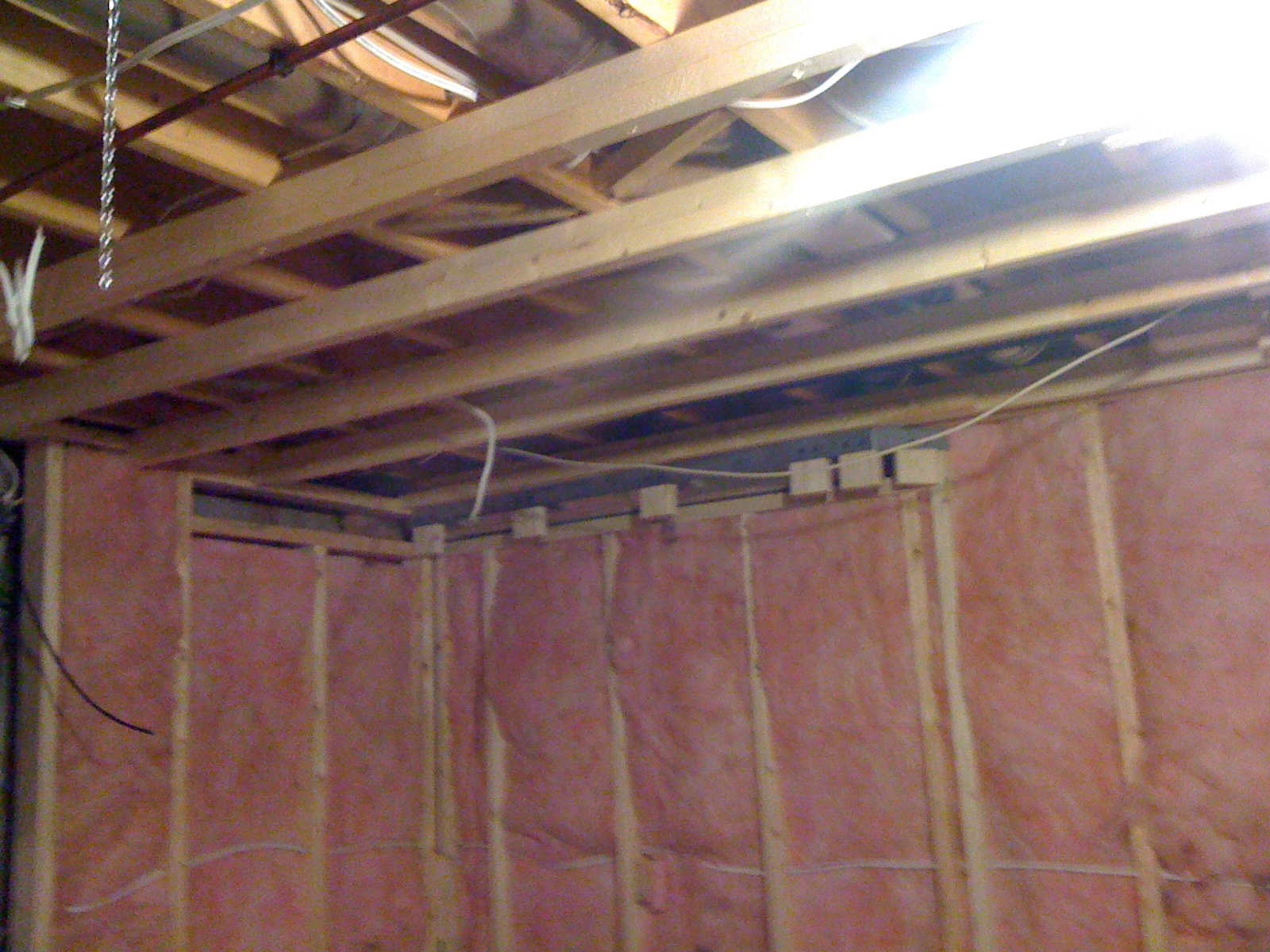 Strapped ceiling ready for drywall