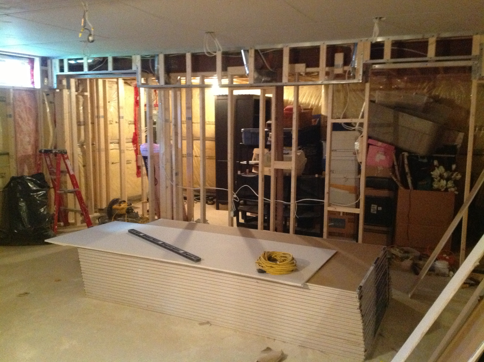 Framed Basement with Bulkhead