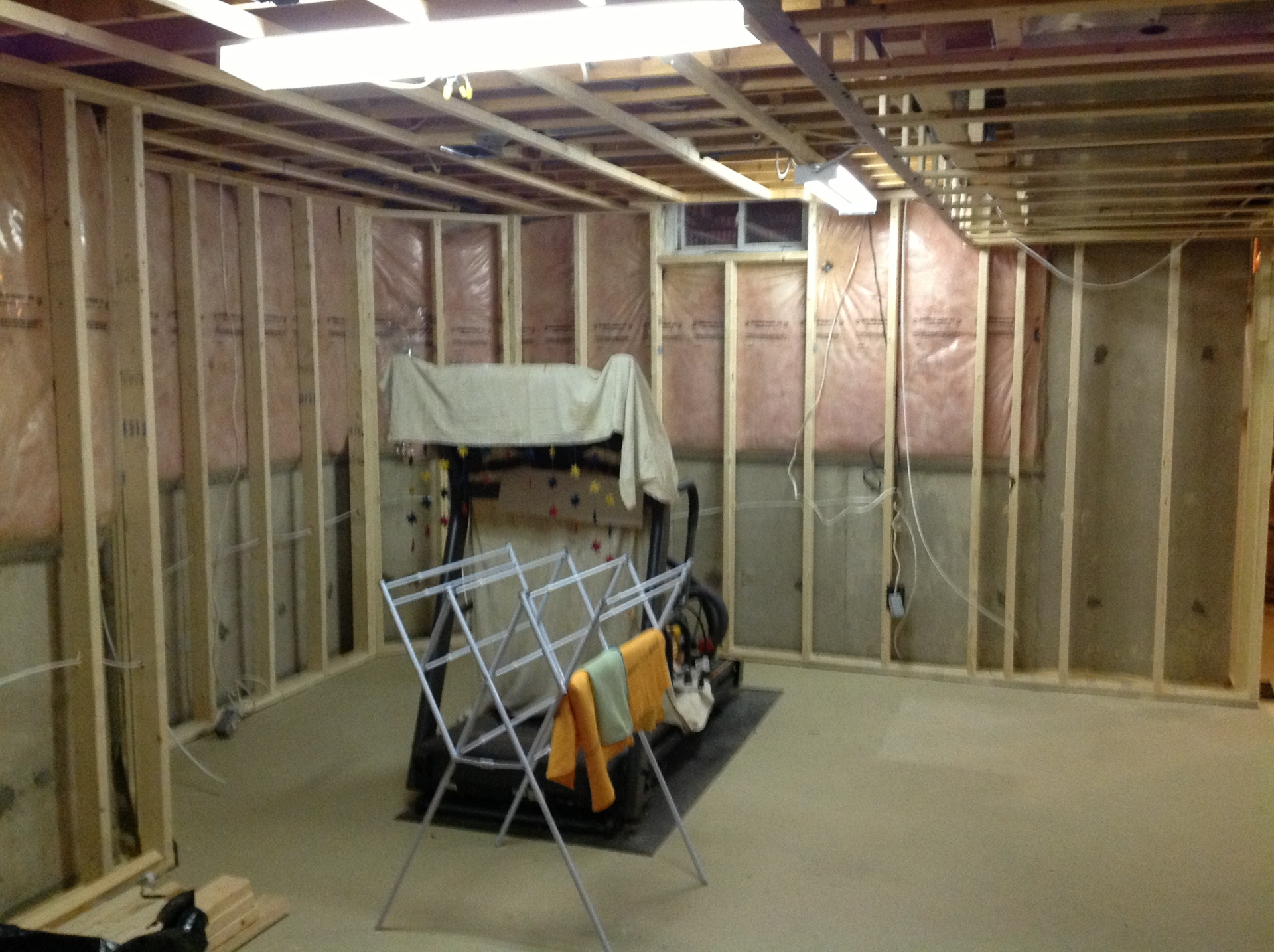 Basement Framed for living space