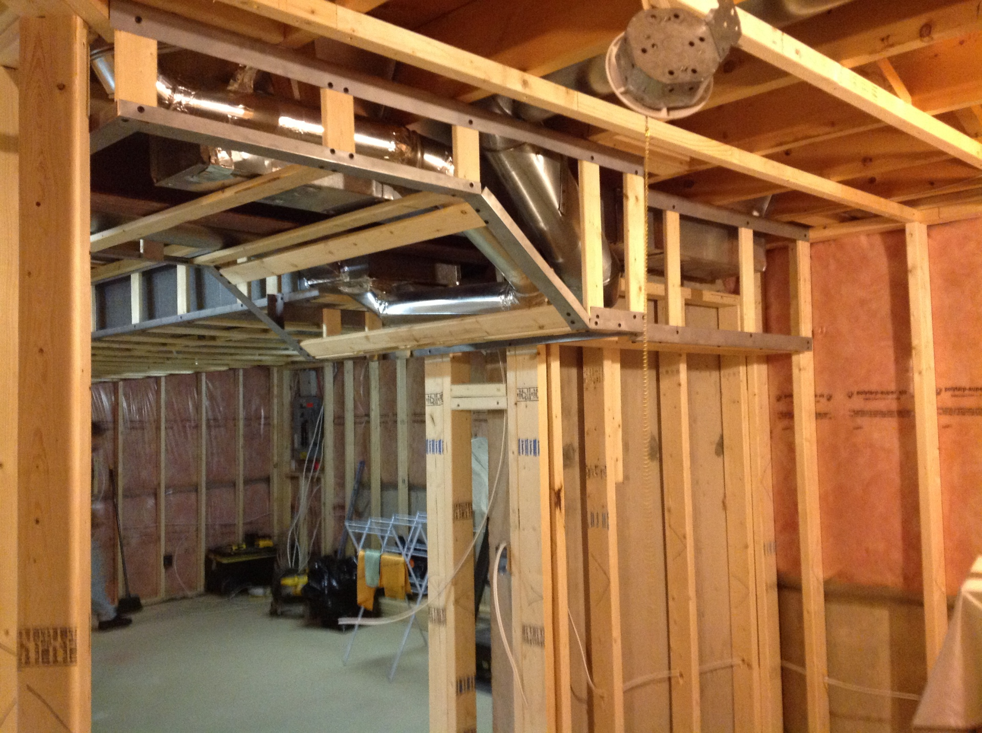 Basement Framed ready for drywall