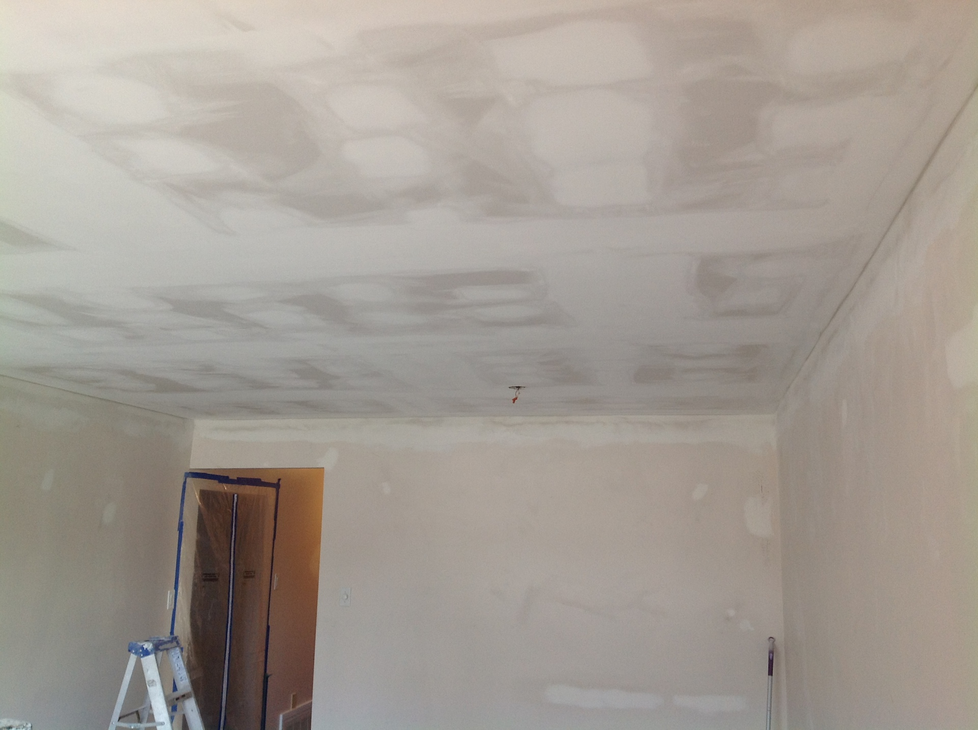 Ceiling Plastered ready for primer