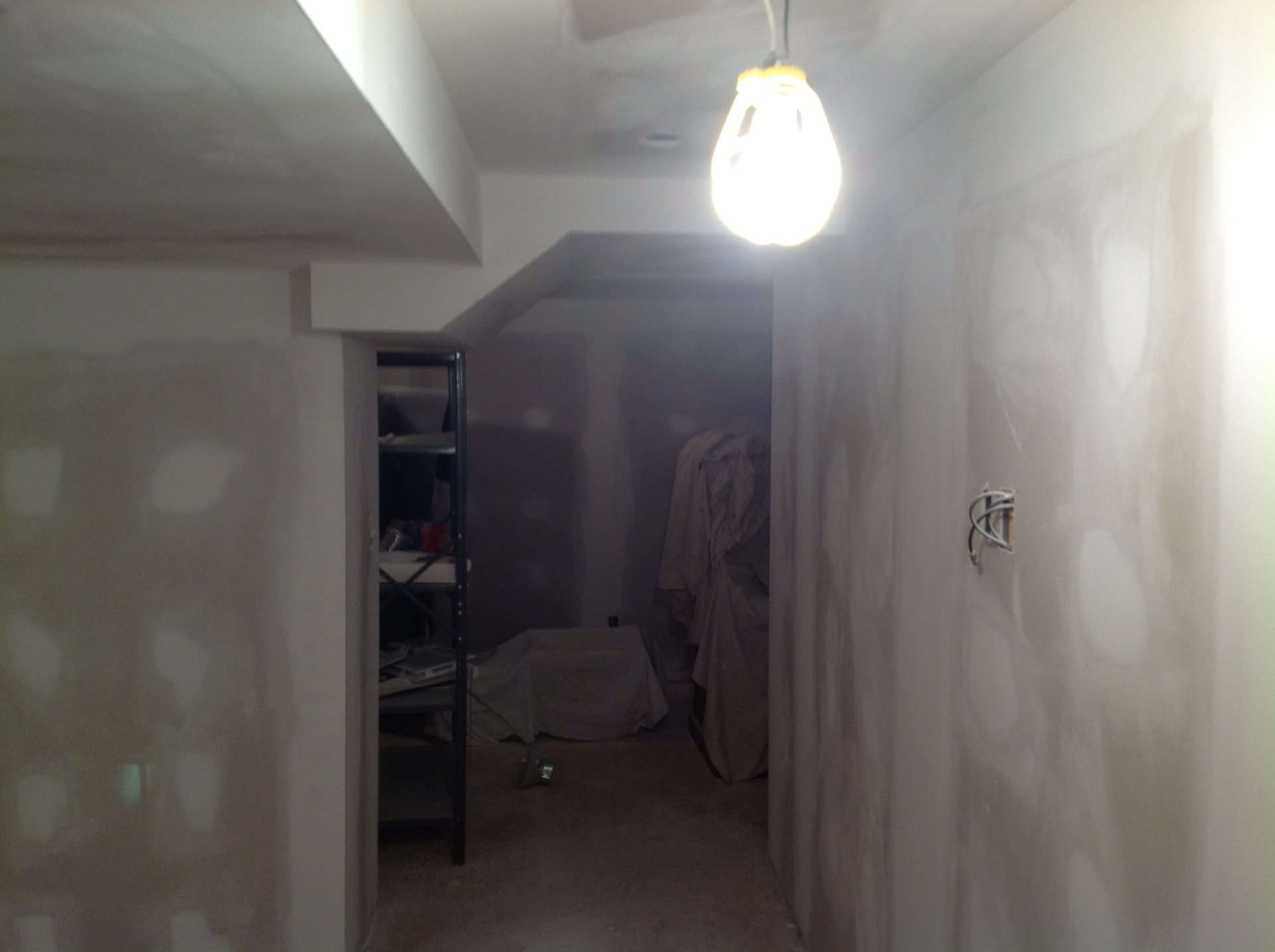 Dry walled Basement Mudded