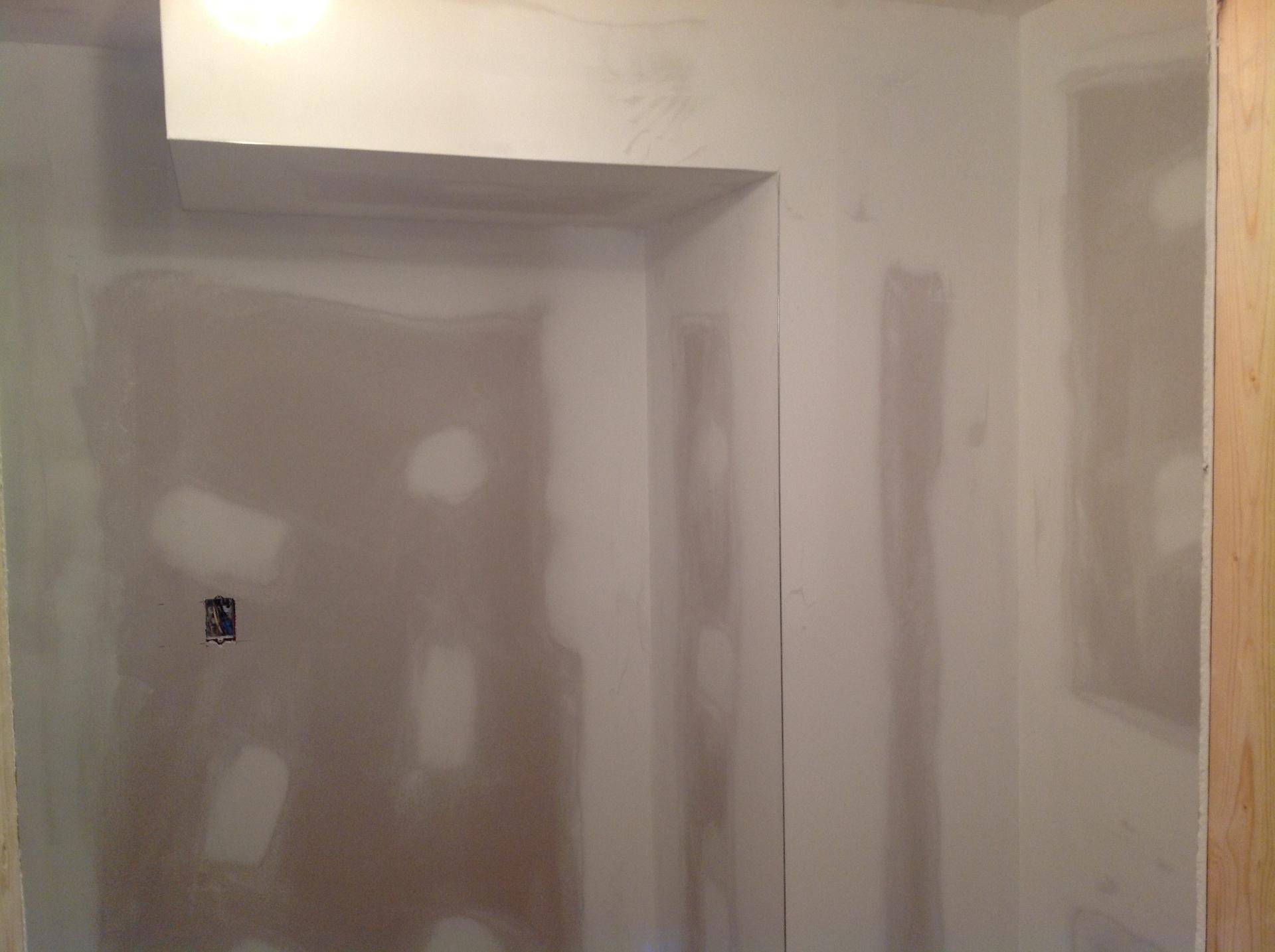 Plastered Drywall in basement