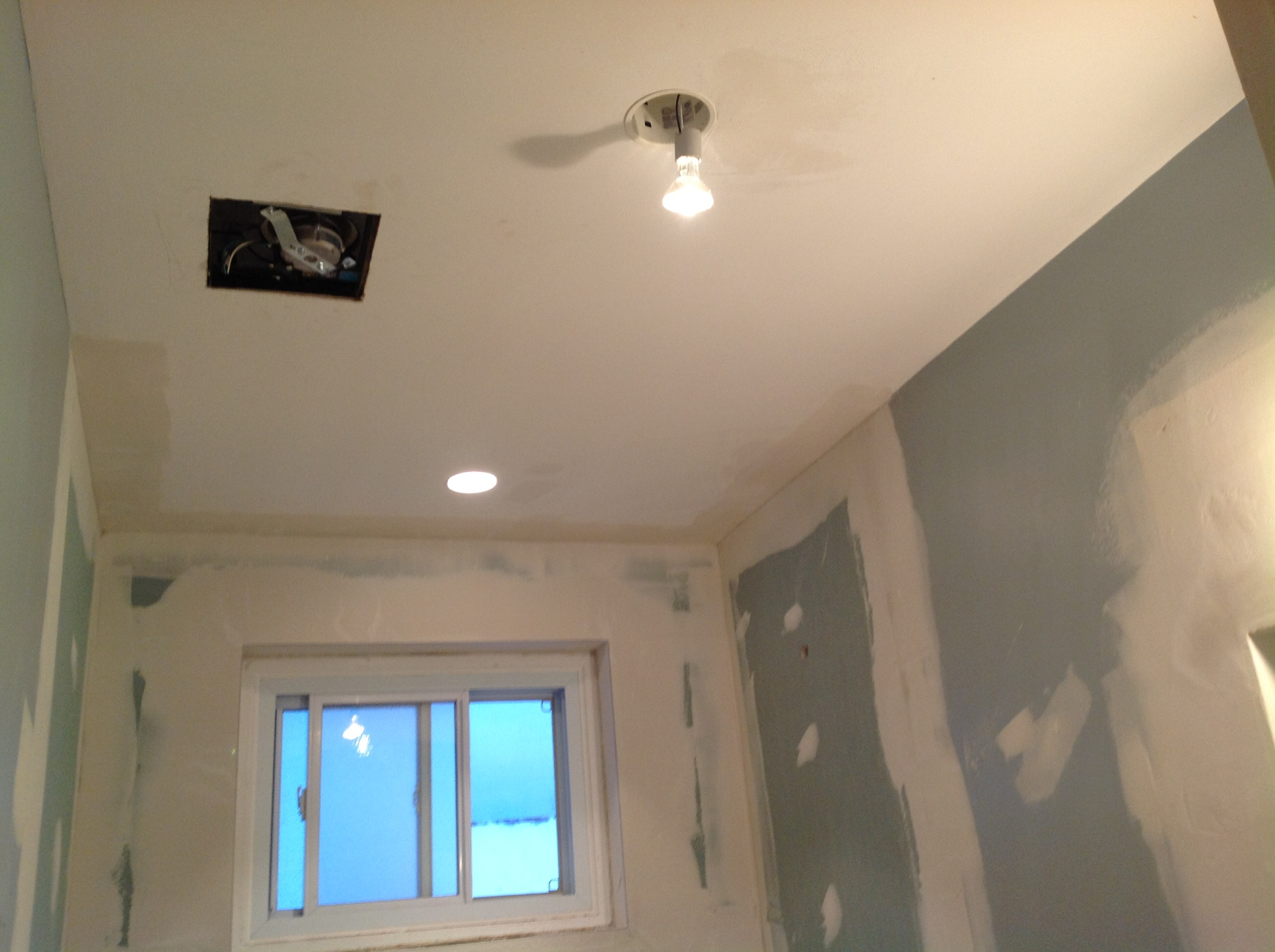 Bathroom drywall and plaster