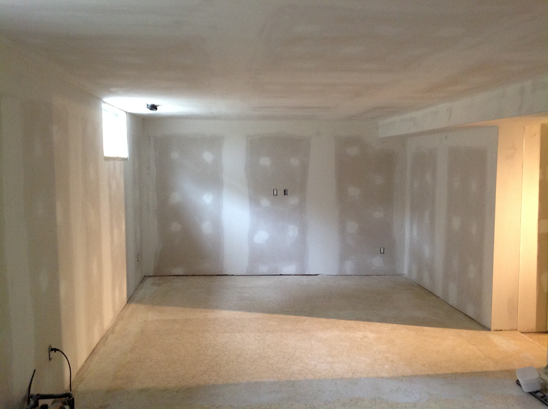 Basement Drywall and plastered