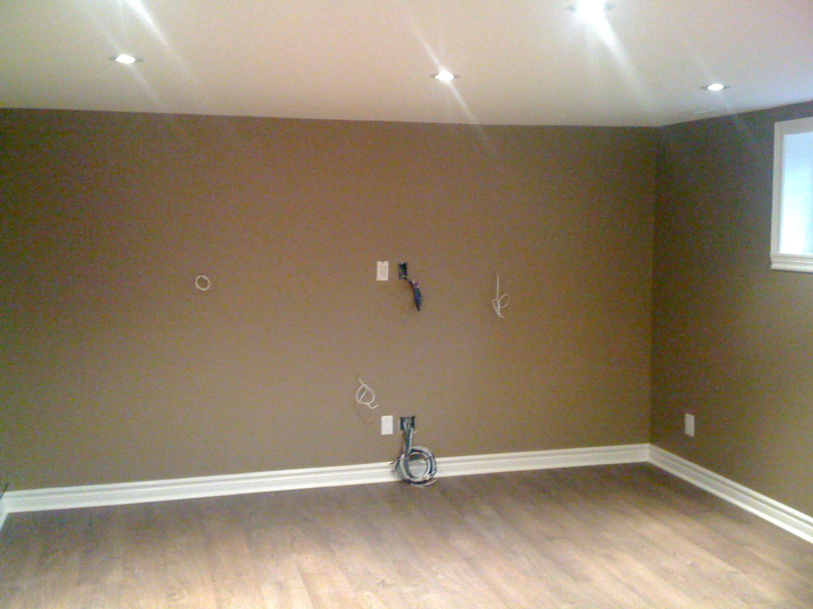 Entertainment area in basement