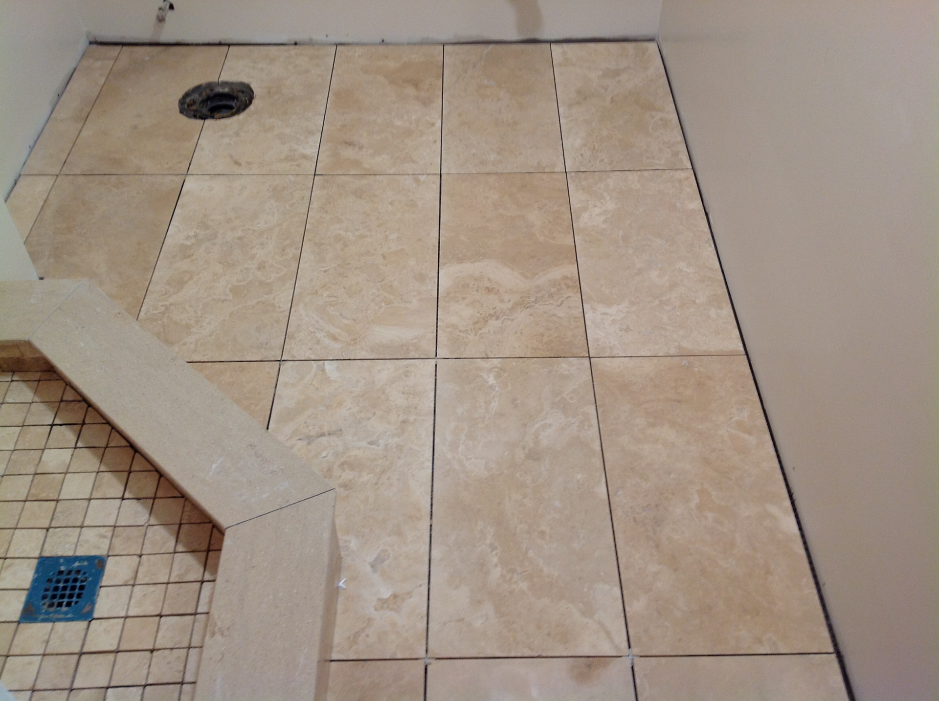 Porcelain tile floors