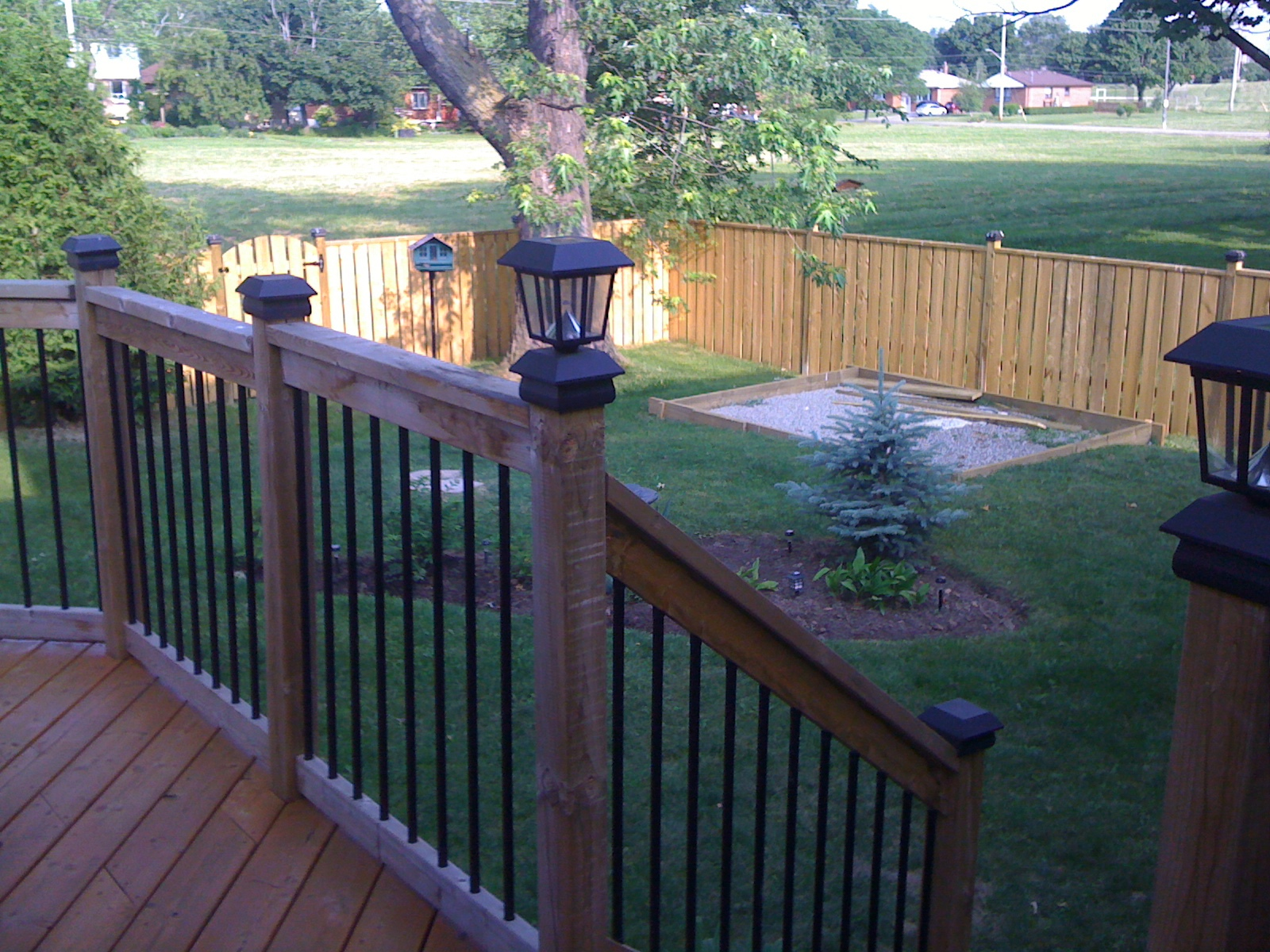 Deck with a fence