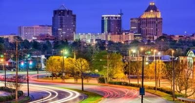 Greensboro, NC Skyline at Night