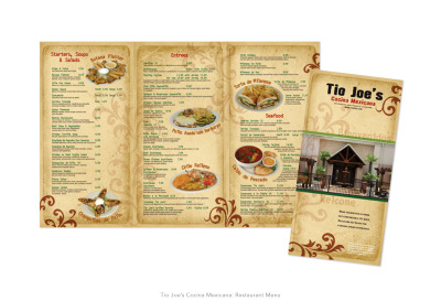 Tio Joe's Cocina Mexicana: Restaurant Menu