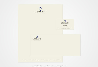 Crescent Real Estate Equities: Stationery Package Design