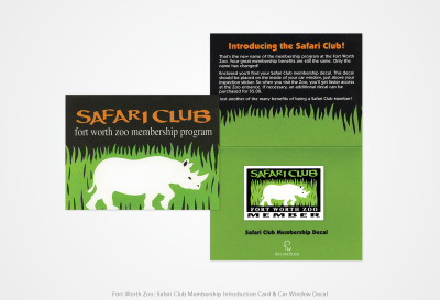 Safari Club Fort Worth Zoo: Membership Card and Car Decal