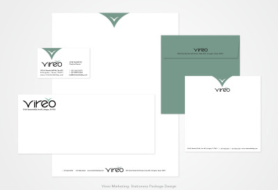 Vireo Marketing: Stationery Package Design