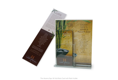 The Havens Spa: Countertop Rack Card & Holder