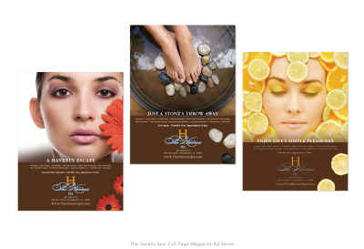 The Havens Spa: Full Page Magazine Ad Series